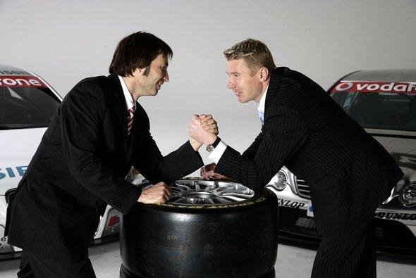 Einst Rivalen in der DTM: Heinz-Harald Frentzen und Mika Häkkinen - Foto: DTM