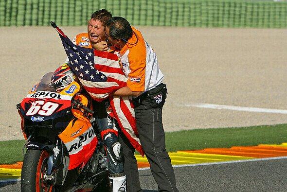 Nicky Hayden fing 2006 Valentino Rossi beim Finale ab
