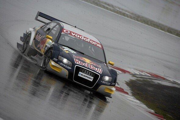 Tomczyk war nur im Trcokenen am schnellsten. - Foto: Audi