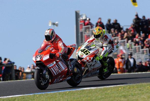 Loris Capirossi kennt die Ducati und seinen Landsmann gut