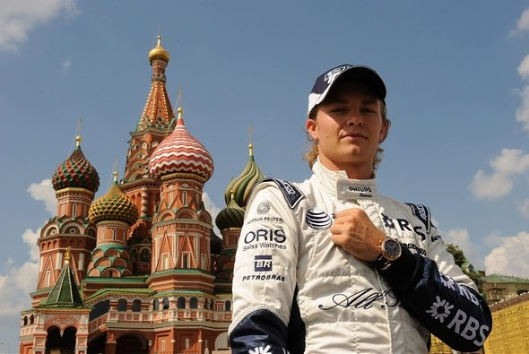 Nico Rosberg drehte Demorunden in Moskau.