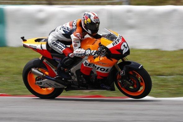 Dani Pedrosa bestimmte auch das Warm-up - Foto: Honda