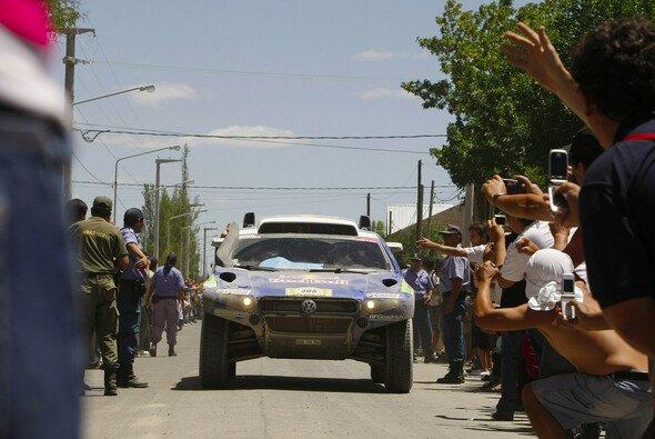 De Villiers konnte sich auf Etappe acht nicht in die Reihe der VW-Sieger einreihen. - Foto: Volkswagen Motorsport