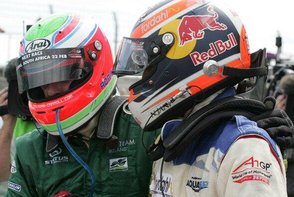 Carroll und Jani kamen sich am Rennende nah - Foto: A1GP