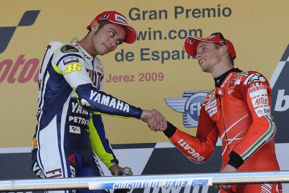 Rossi und Stoner kamen sich sowohl auf- als auch abseits der Strecke in die Haare