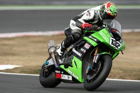 Sheridon Morais schnupperte 2009 in Magny-Cours bereits Superbike-Luft auf einer Kawasaki.