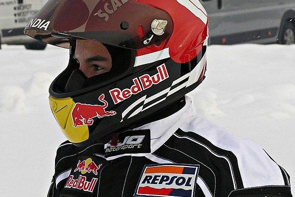 Marc Marquez findet sich auch bei Schnee und Eis gut zurecht