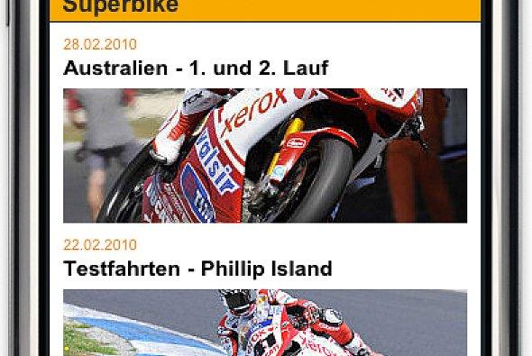 Die MotoGP auf dem iPhone.