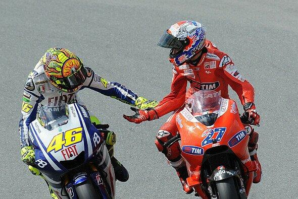 Valentino Rossi hätte gerne noch öfter mit Casey Stoner gekämpft - Foto: Milagro