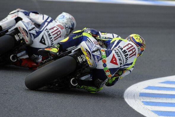 Valentino Rossi fand das Rennen sehr gut und lobte Jorge Lorenzo für den Kampf. - Foto: Milagro