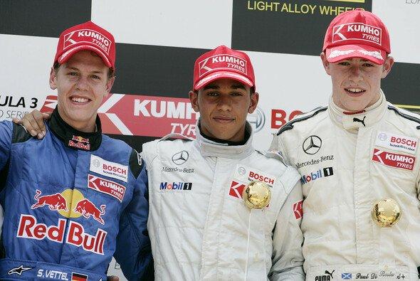 2006: Sebastian Vettel, Lewis Hamilton und Paul Di Resta in der F3 Euroserie - Foto: Mercedes