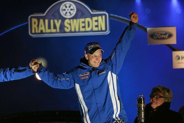 Mikko Hirvonen ließ sich 2010 und 2011 in Schweden als Sieger feiern