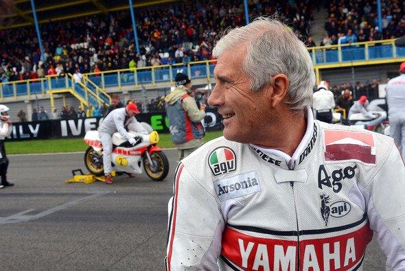 Im Rennanzug: Giacomo Agostini 2011 am Rande des MotoGP-Traditionsrennens in Assen
