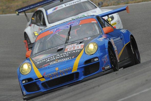 Ein Porsche von TRG 2011 beim ALMS-Gastspiel in Kanada
