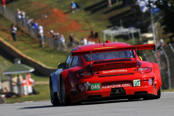 Letzter gemeinsamer Auftritt: Flying Lizard und Porsche beim Petit Le Mans 2012