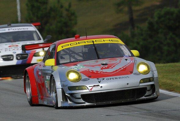 Flying Lizard Motorsport holte zum Saisonabschluss einen Platz auf dem Podest