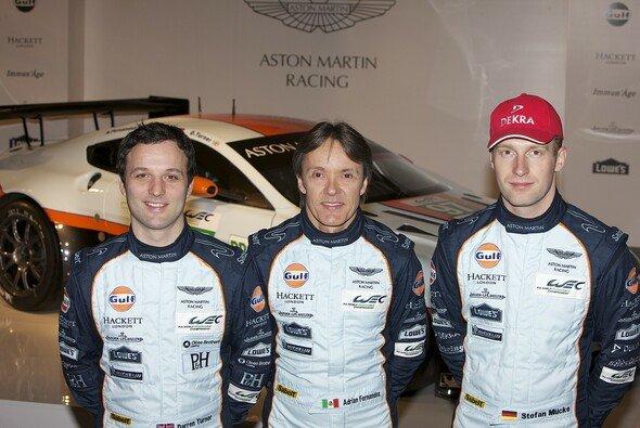 Das AMR-Trio freut sich auf den Vantage GTE