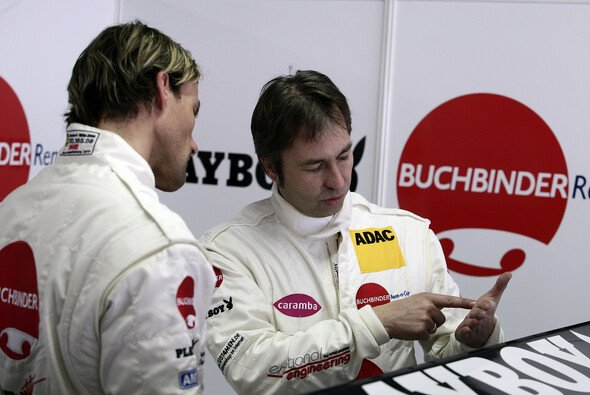 Half Hannawald bei seinem Start im GT Masters: Heinz-Harald Frentzen