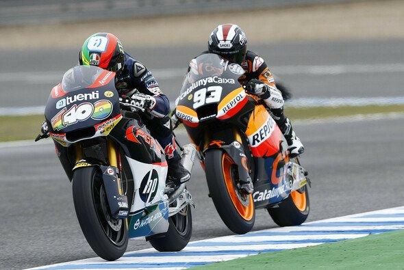 In der Moto2 duellierten sich Espargaro und Marquez ständig
