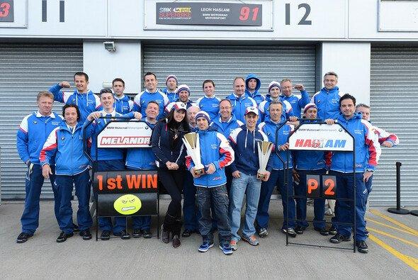 Marco Melandri bescherte dem BMW-Team einen ersten Sieg in der Superbike-WM