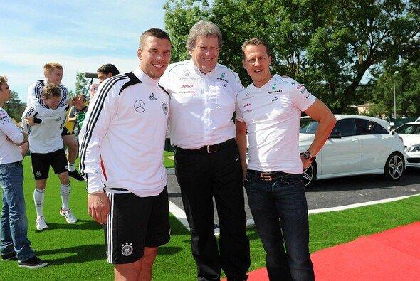 Michael Schumacher besuchte die deutsche Nationalmannschaft