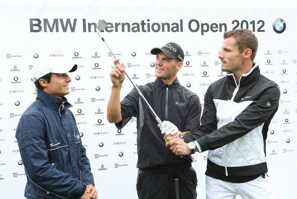 Martin Tomczyk relaxt in seiner Freizeit beim Golfen