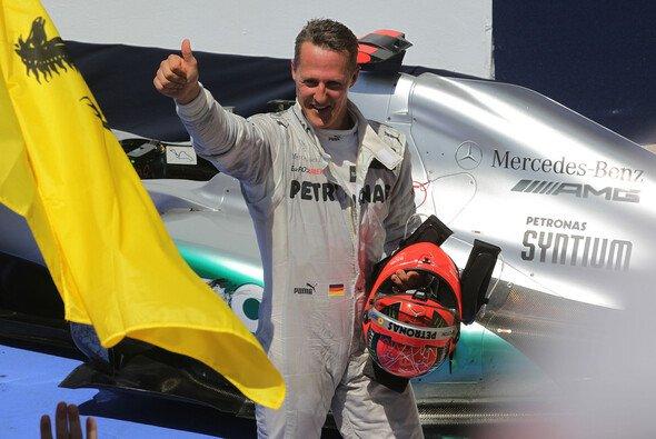 In Valencia schaffte Michael Schumacher zum ersten und einzigen Mal seit seinem Comeback den Sprung aufs Podium