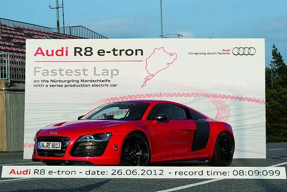 Streckenrekord für den Audi R8 e-tron - Foto: Audi
