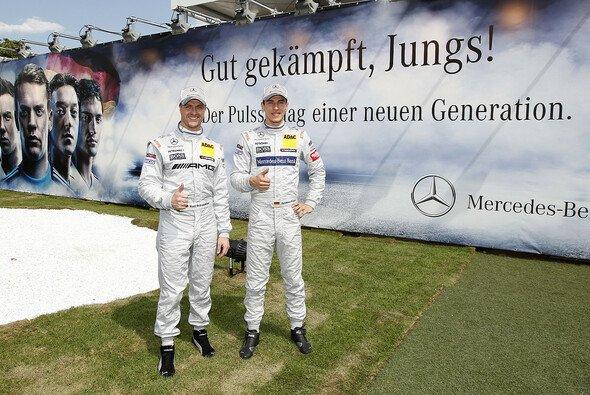 Für Ralf Schumacher und Christian Vietoris geht es beim Saisonfinale nur noch um einen versöhnlichen Abschluss - Foto: Mercedes-Benz