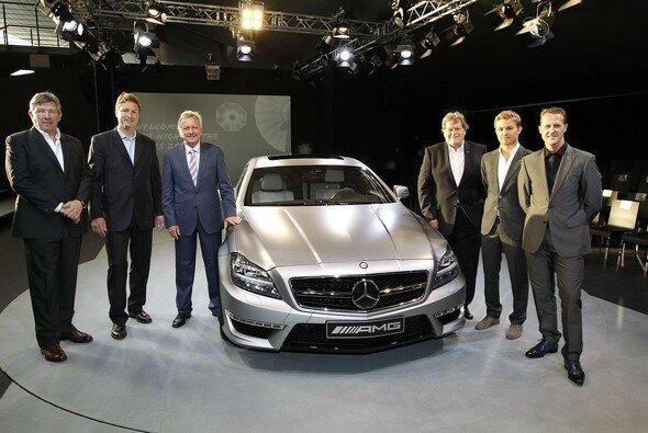 Bei der Präsentation des CLS 63 AMG war reichlich Formel-1-Prominenz vertreten - Foto: Mercedes-Benz