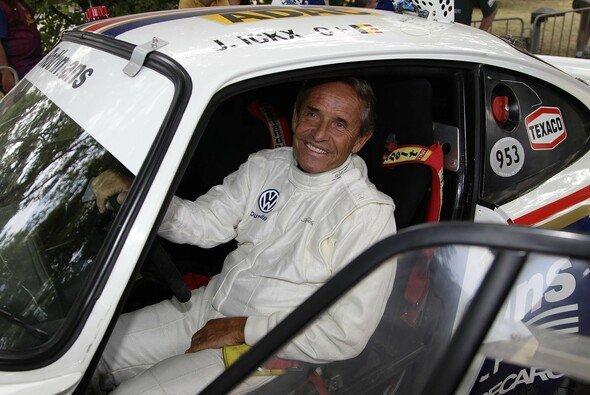 Während der Rallye Deutschland drehte Jacky Ickx einige Demorunden
