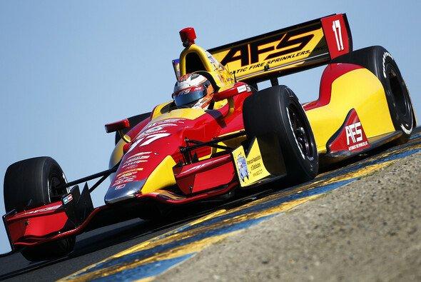 2012 fuhr Saavedra nur drei IndyCar-Rennen
