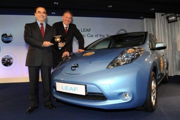 Der Nissan Leaf ist das Auto des Jahres 2011 - Foto: Nissan