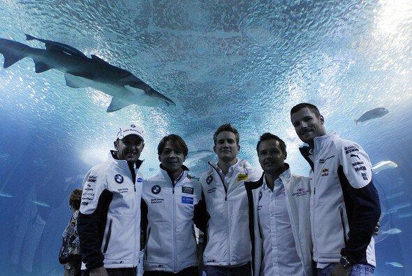 Die BMW-Piloten zeigten sich von den Raubfischen fasziniert - Foto: BMW