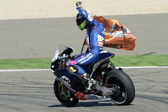 Aleix Espargaro hat sich in Japan zum Ziel gesetzt, erneut vor Randy de Puniet die Ziellinie zu überfahren