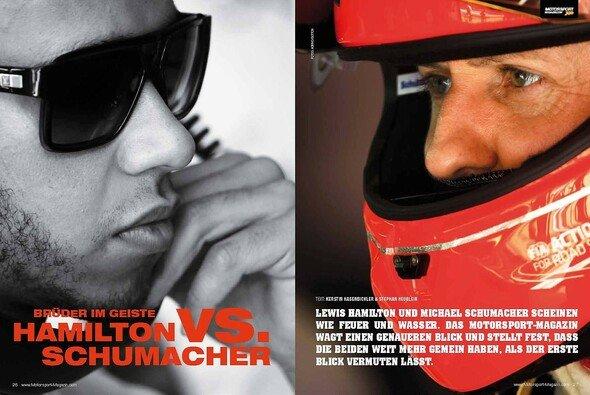 Hamilton und Schumacher haben mehr gemeinsam, als man auf den ersten Blick vermutet - Foto: adrivo Sportpresse