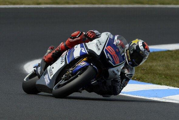 Jorge Lorenzo war am Freitag nicht so oft auf dem Motorrad zu sehen
