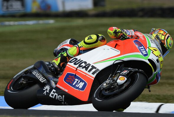 Valentino Rossi drehte scih im Kreis