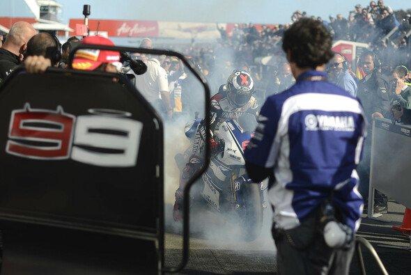 Jorge Lorenzo will es in Valencia noch einmal richtig krachen lassen