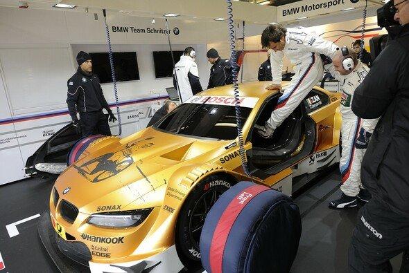 Zanardi startete im gold lackierten BMW M3