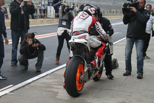 Marc Marquez strahlte nach seinem ersten Run auf der GP-Honda
