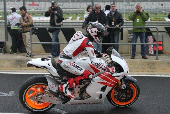 Marc Marquez drehte endlich seine ersten MotoGP-Runden