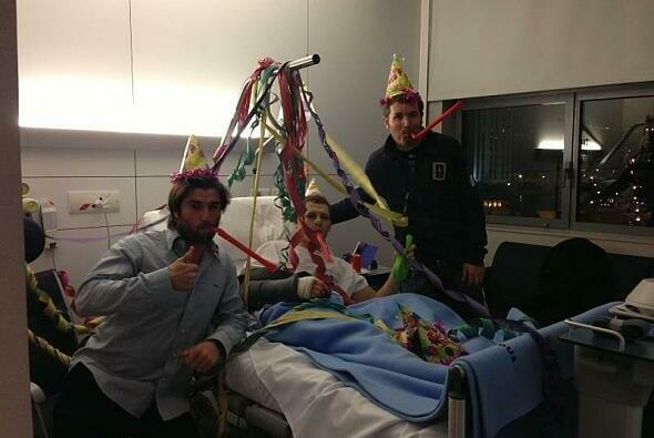 Stefan Bradl verbrachte seinen Geburtstag im Krankenhaus