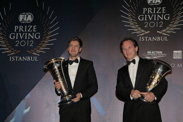 Zwei Strahlemänner: Sebastian Vettel und Christian Horner