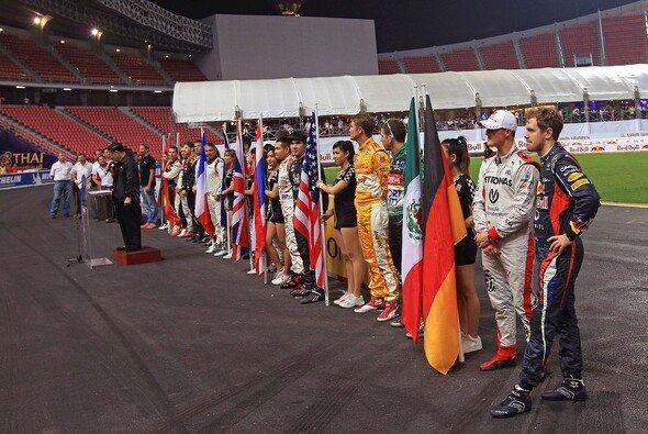 Das Race of Champions bot eine gute Show vor leeren Rängen