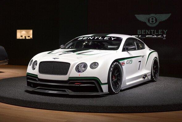 Der GT3-Bentley bei seiner Präsentation in England - Foto: Bentley