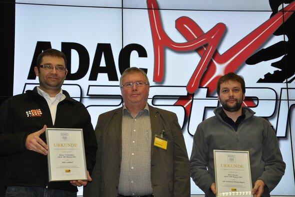 Nahmen die Auszeichnungen entgegen: Ralf Schweda, Dieter Junge, Alexander Brodbeck