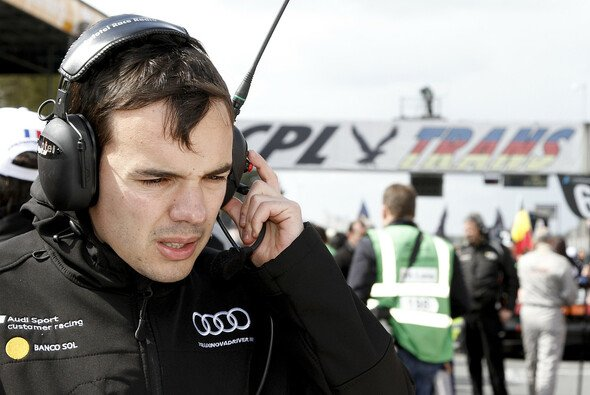 Cesar Campaniço auf der Start-und-Ziel-Geraden des Circuit Zolder in Belgien