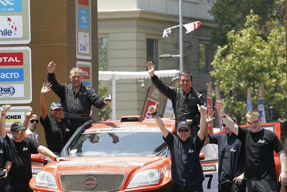 Matthias Kahle und Thomas Schünemann beendeten die Rallye Dakar auf Rang 13 - Foto: DPPI, Olaf Kreiß