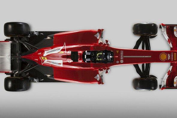 Der Ferrari F138 ist optisch wieder gefälliger